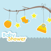 Baby shower background — Stock Vector