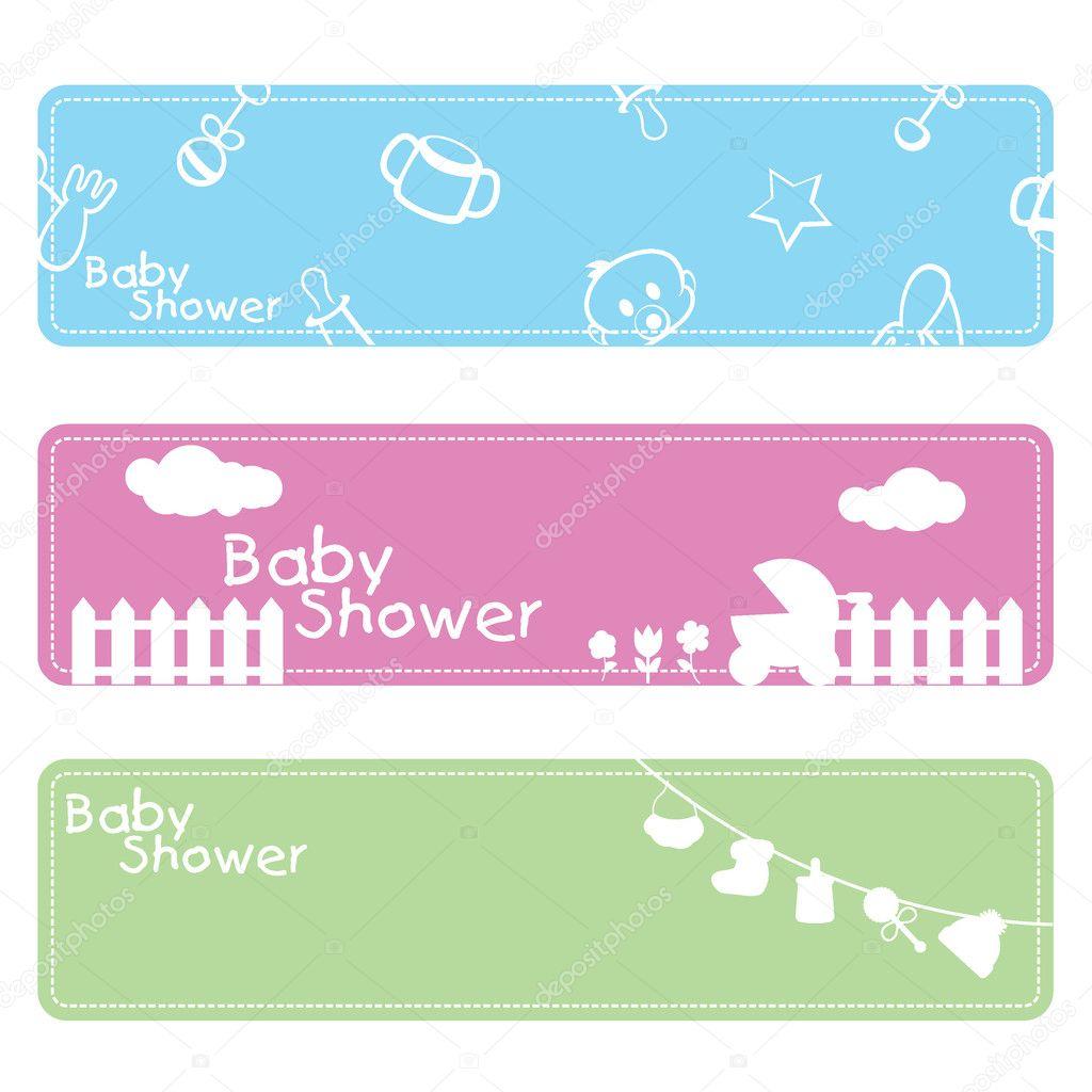 Download baby shower background stock illustration 11016285