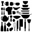 Stock Vector: Kitchen stuff icons