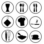 Kitchen stuff icons — Stock Vector #11102462