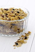 Delicious and healthy muesli or granola — Stock Photo