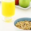 Healthy granola and fresh fruits — Stock Photo