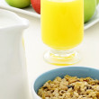 Healthy granola and fresh fruits - Stock Photo