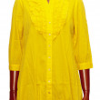 Female yellow tunic — Stock Photo