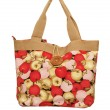 Stock Photo: Summer multi colored bag on a white background
