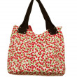 Summer multi colored bag on a white background — Stock Photo