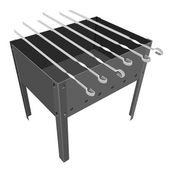 Barbecue grill on a white background. — Stock Photo