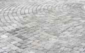 Paving stones texture a round — Stock Photo