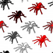 Halloween seamless pattern with black spiders — Stock Photo #11122438