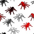 Halloween seamless pattern with black spiders — Stock Photo #11122771
