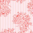 Seamless background with flower. — Zdjęcie stockowe