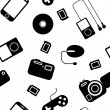 Stock Photo: Seamless background Icon with electronic gadgets.