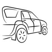 Silhouette di auto suv per design. — Foto Stock