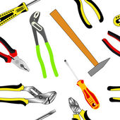 Seamless background of hand tools for construction — Stock Photo