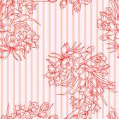 Bezešvé pozadí s květinou. — Stock fotografie