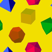Geometric shapes pattern — Stock Photo