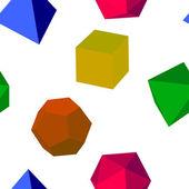 シームレスなカラフルな 3 d ベクトルの幾何学的図形 — ストック写真