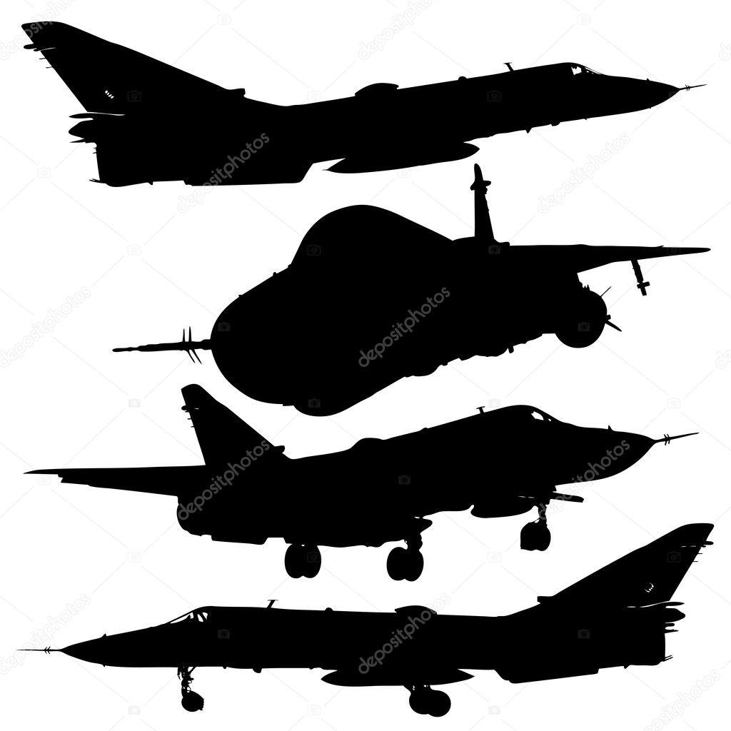 Military Aircrafts Set Royalty Free Stock Photo - Image: 31567595