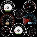 Set of car speedometers for racing design. — Stock Photo