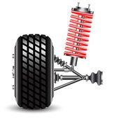 Front car suspension — Stock Photo