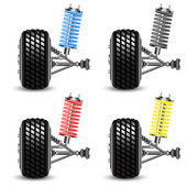 Set car suspension, frontal view. — Stock Photo