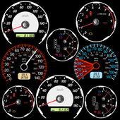 Set of car speedometers for racing design. — ストック写真