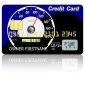 Credit card speedometer — Stock Photo
