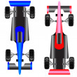 Sport car scheme top view. — Stock Photo