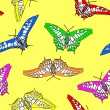 Royalty-Free Stock Photo: Butterfly seamless pattern . Vector illustration.