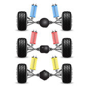 Set rear suspension car with different gearing. — Stock Photo