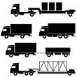Set of vector icons - transportation symbols — Stock Photo #12012386