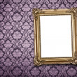 Blank frame at wall with clipping path — Stock Photo
