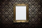 Leeg frame op de muur met uitknippad — Stockfoto