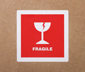 Fragile sticker — Stock Photo