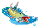 Fish, the pike — Stock Vector