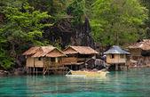 Boat at philippines sea — Stock Photo