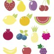 Fruits and vegetables — Stock Vector #11376993