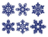 Decorative snowflakes — Stock Vector