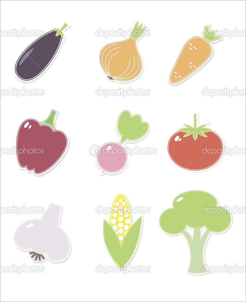Set of food icons — Stock Vector #11378527