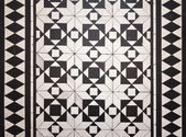 Victorian style floor tile pattern — Stock Photo