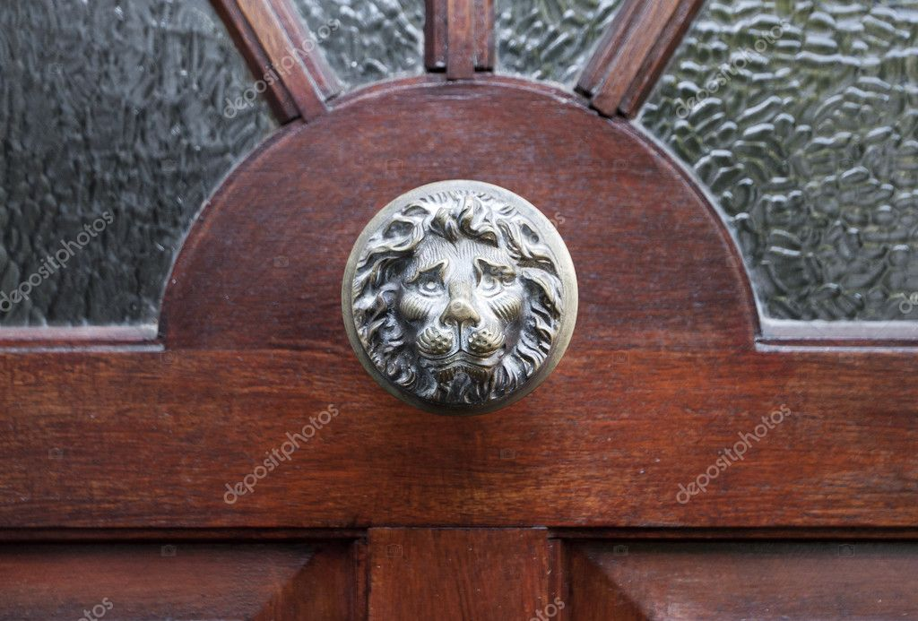 Decorative lion head door knocker — Stock Photo #11198976
