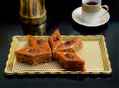Oriental sweets baklava — Stock Photo