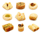 Oriental sweets on a white background — Stock Photo