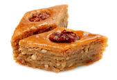 Oriental sweets baklava on a white background — Stock Photo