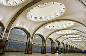 Metro station Mayakovskaya in Moscow — Stock Photo