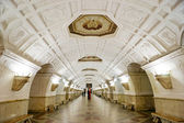 The metro station Belorusskaya in Moscow. The Soviet style. — Stock Photo
