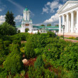Inside Spaso-Yakovlevsky Monastery in ancient town of Rostov - Stock Photo