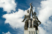 Famous soviet monument Worker and Kolkhoz Woman, Moscow — Stock Photo