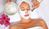 Máscara facial de spa — Foto Stock