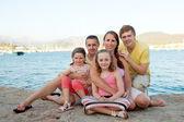 Family on holiday — Stock Photo